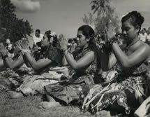 Tongan girls in a dance, Tonga Catalogue reference: CO 1069/666