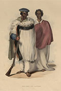 Maori individuals from 'New Zealanders', illustrated by George French Angus (CO 1069/632)