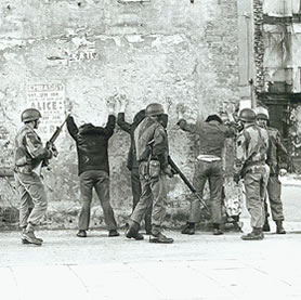 British Troops on the streets of Londonderry (HO 219/23a)