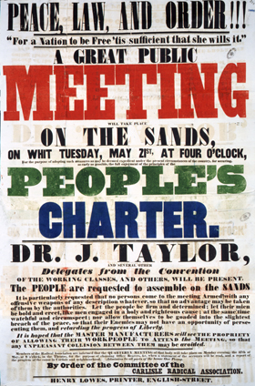 Poster for Chartist meeting (HO 40/41)