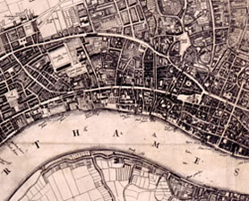 Map of London 1660 (WORK 30/6464)